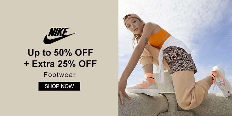 Nike: Up to 50% OFF + Extra 25% OFF Footwear