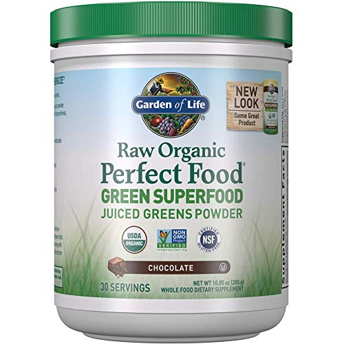 Garden of Life Raw Organic Perfect Food Green Superfood Juiced Greens Powder - Chocolate, 30 Servings (Packaging May Vary) $14.13