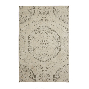 Mohawk Home Francesca Farmhouse Area Rug, Light Gray, 5' x 8'