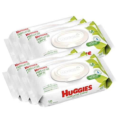 补货了! HUGGIES 婴幼儿无香型湿巾,敏感肌肤可用,6包共288抽