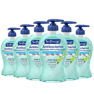 Softsoap Antibacterial Liquid Hand Soap, Fresh Citrus - 6pk