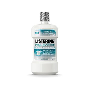 Listerine Healthy White Teeth Whitening Fluoride Mouthwash, 32 fl. oz
