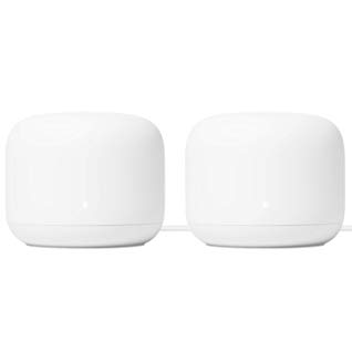 Google Nest WiFi Router 2 Pack – 4x4 AC2200 Mesh Wi-Fi Routers with 4400 sq ft Coverage $239.00