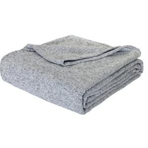 Mainstays Sweater Knit Holiday Blanket, Two Tone Gray, Twin/TwinXL