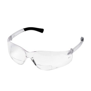 MCR Safety BearKat Magnifier Eyewear, Clear Temple, Black Sleeve, 1 Each (Quantity)