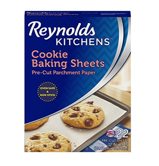 Reynolds Kitchens Cookie Baking Sheets Parchment Paper (Non-Stick, 22 Sheets)