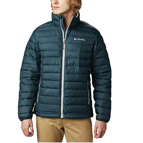 Columbia Men's Powder Lite Hooded Winter Jacket, Water repellent