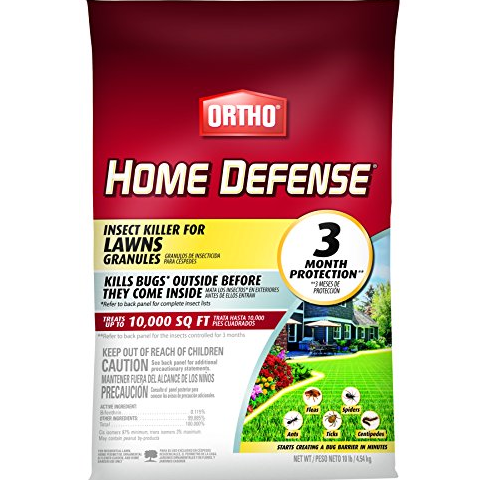 Ortho Home Defense Insect Killer for Lawns Granules - Treats up to 10,000 sq. ft, Lawn Insect Killer Kills Ants, Ticks, Fleas, Spiders, Centipedes & Other Listed Bugs, Fast Acting, 10 lbs. $8.97