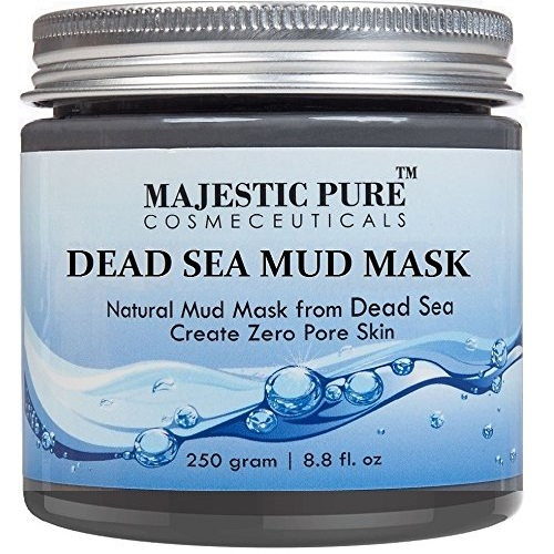 Majestic Pure Dead Sea Mud Mask 8.8 Oz - Spa's Premium Quality Facial Cleanser for All Skin Types