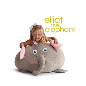 Big Joe Elliott the Elephant Bagimal w/ Lil Buddy Bean Bag Chair