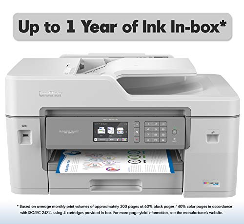 "Brother MFC-J6545DW INKvestmentTank Color Inkjet All-in-One Printer with Wireless, Duplex Printing, 11"" x 17"" Scan Glass and Upto 1-Year of Ink-in-Box, MFC-J6545dw $229.99"