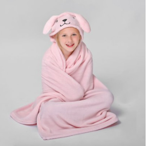 Pink Bunny Throw for Kids by Down Home
