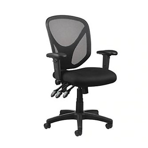 Realspace® MFTC 200 Mesh Multifunction Ergonomic Mid-Back Task Chair, Black