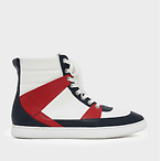 Pointed High Cut Sneakers