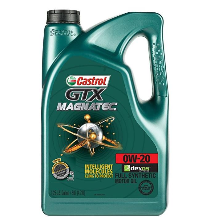 Castrol 03060 GTX Magnatec 0W-20 Motor Oil - 5 Quart
