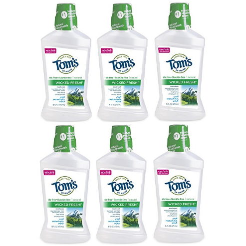 Tom's of Maine Wicked Fresh! Mouthwash, Mouthwash, Natural Mouthwash, Cool Mountain Mint, 16 Ounce, 6-Pack $19.78