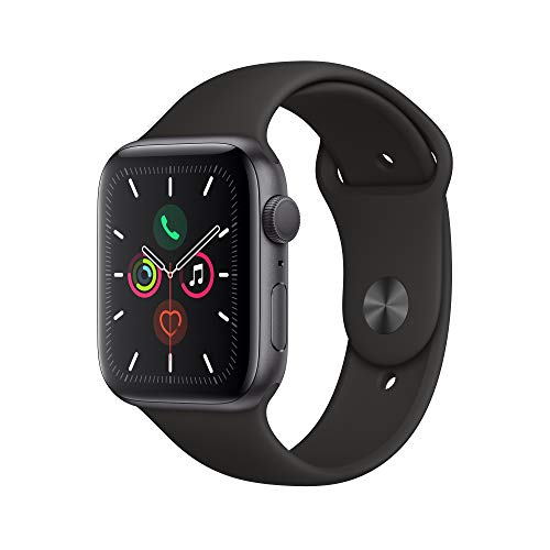 Apple Watch Series 5 (GPS, 44mm) - Space Gray Aluminum Case with Black Sport Band $379.00