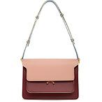 Marni Burgundy & Pink Medium Trunk Bag
