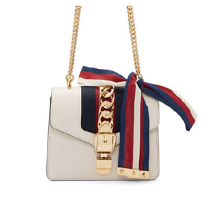 Gucci  White Mini Sylvie Bag
