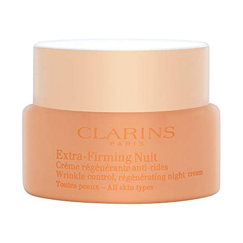 Clarins Extra-firming Wrinkle Control Regenerating Night Cream for Unisex, 1.6 Ounce