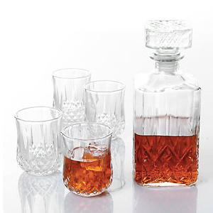 Gibson Home Jewelite Glass Decanter Set, 5 Pieces