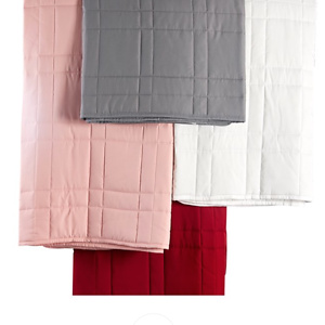 Mainstays Down Alternative Quilted Twin-XL Bed Blanket in Deep Red
