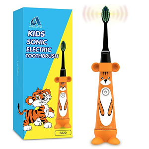 Sonic Kids Electric Toothbrushes for Toddlers,Childrent Powered Toothbrush with Soft Brush Heads Includes Battery for Kids 3+