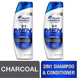 Head and Shoulders Shampoo and Conditioner 2 in 1, for Men 12.8 fl oz, Twin Pack