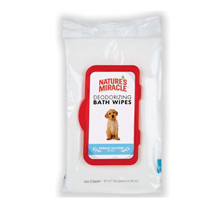 Nature's Miracle Deodorizing Bath Wipes for Dogs