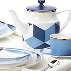 Blue Azzurro™ Color Block Teapot