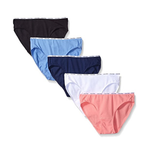 Calvin Klein Women's Cotton Stretch Logo Bikini Panty 5 Pack