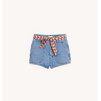 Denim Shorts with Removeable Belt
