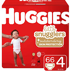 Huggies Little Snugglers Baby Diapers, Size 4, 66 Ct