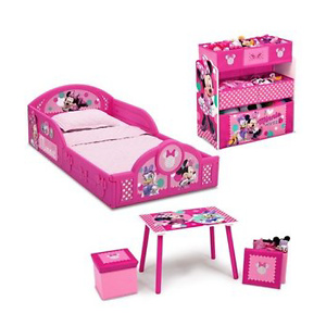 Disney Minnie Mouse Bedroom Set with BONUS Toy Organizer