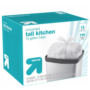 Tall Kitchen Flap-Tie Trash Bags