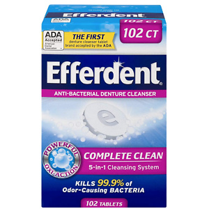 Efferdent Denture Cleanser Tablets, Complete Clean, 102 Tablets