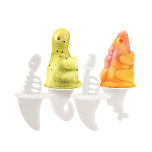 Tovolo Dinos Pop Molds, Flexible Silicone Mold Sets