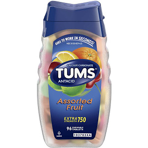 TUMS Antacid Chewable Tablets for Heartburn Relief