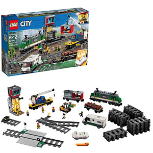 LEGO City Cargo Train 60198 Remote Control Train Building Set