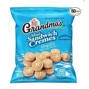 Grandma's Sandwich Cookies, Vanilla Creme Minis