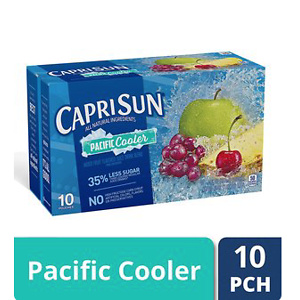 Capri Sun Pacific Cooler Mixed Fruit Flavored Juice Drink Blend, 10 ct - Pouches