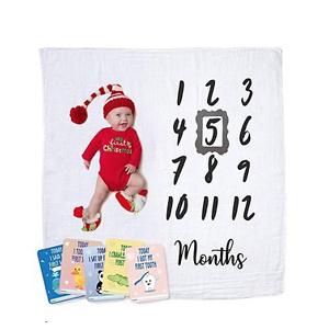 Upside Up Baby Monthly Milestone Blanket