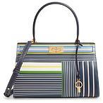 TORY BURCH Small Lee Radziwill Stripe Leather Bag