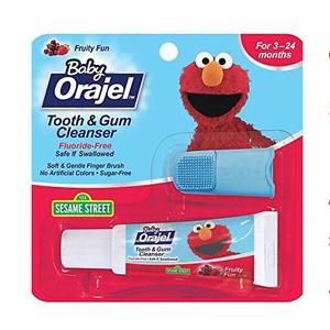 Orajel 婴儿牙膏和指套牙刷套装