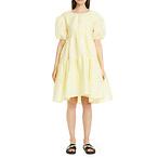 CECILIE BAHNSEN Effie Textured Linen Blend Dress