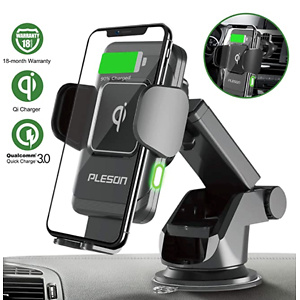 PLESON 10W/7.5W Wireless Car Charger Mount