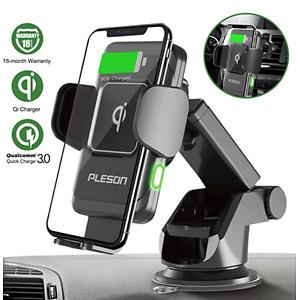 PLESON 10W/7.5W Wireless Car Charger Mount