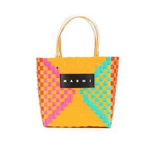 MARNI MARKET woven mini shopper bag