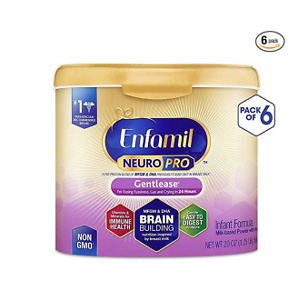 Enfamil NeuroPro Gentlease Baby Formula Gentle Milk Powder Reusable Tub