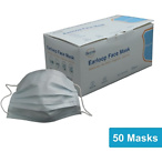 Disposable Earloop Face Mask, 50/Box